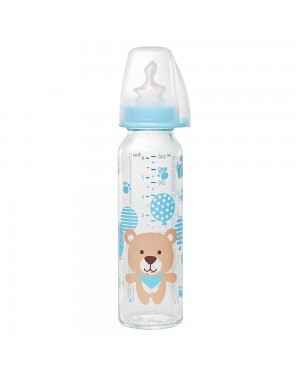 Nip Standart glass bottle boy 250ml 0-6 muaj
